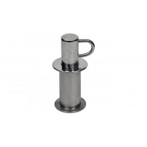 Анкерное крепление, гориз. анкер+стойка, для разд. дорожек в бетонный бассейн, AISI-304