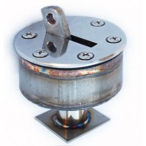 Анкерное крепление с выдвижным крюком для разд. дорожек в пленочный бассейн, AISI-316