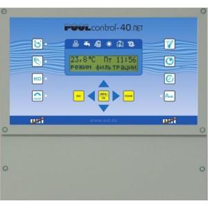 Панель управления фильтрацией и нагревом OSF Pool-control-PC-40.net, 220В/380В, 3кВт