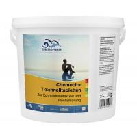 Кемохлор-Т быстрорастворимый стабилизированный хлор 50% в таблетках 20гр.,  5 кг