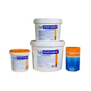 ЛОНГАФОР медленный органический хлор (табл. 200г) ведро 1 кг (б.) /(1уп=12шт)