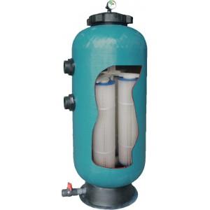 """Фильтр KD35, шпул.навивки, диатомитовый,  d.500мм, 15.9м³/час, 3.25м², бок.подкл.2"""", без вентиля"""