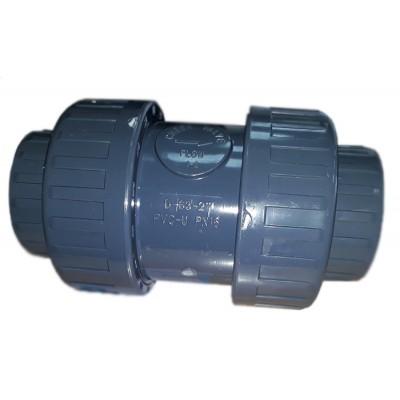Обрат.клапан 2-х муфтовый подпружиненный ПВХ 1,0 МПа d_63