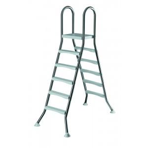 Лестница 5+5 ст. (нерж. сталь, ABS-пластик)  h=1,50м.