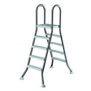 Лестница 4+4 ст. (нерж. сталь, ABS-пластик)  h=1,20м., Summer Fun