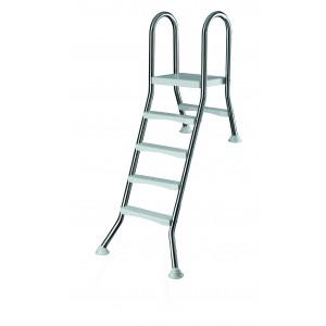 Лестница 4+1 ст. (нерж. сталь, ABS-пластик)  h=1,20м., Summer Fun