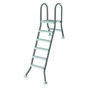Лестница 5+1 ст. (нерж. сталь, ABS-пластик)  h=1,50м., Summer Fun