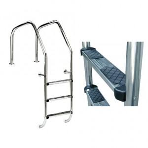 "Лестница ""1000"" 1 ступень +1 предохран.ступень(ступени люкс+ анкер) AISI-316"