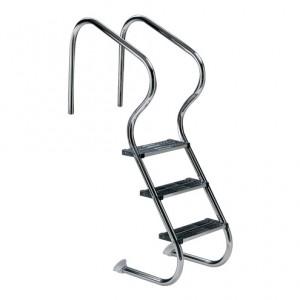 Лестница Easy Access 4 ступени (нерж.ст., ступени двойные люкс) AISI-316