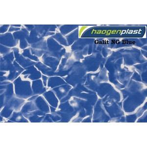 "Пленка ПВХ 1,65х25,00м ""Haogenplast"", Galit NG Blue/Blue Sparks , мрамор"