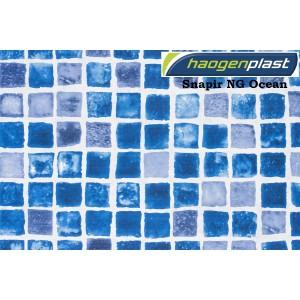 "Пленка ПВХ 1,65х25,00м ""Haogenplast"", Snapir NG Blue / Snapir NG Ocean, синяя мозаика /"