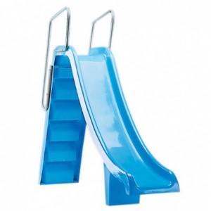 Горка прямая Pranaslide, выс 1,5м., поручни из алюм., цвет синий, Astralpool