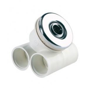 Форсунка гидромасажная нерегулируемая из хром. бронзы с закладной из ABS-пластика