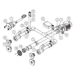 Основной комплект Standard, RG-бронза, 2 форсунки, для бетон.бас., насос-0,5 кВт, 230 В
