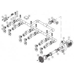 Основной комплект Standard, RG-бронза, 6 форсунок, для бетон.бас. насос-1,5 кВт, 230 В