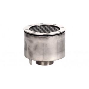 """Водозабор с сетчатой крышкой д.165x100 (плитка) G2,5"""" (наружн.) нерж. AISI-304"""