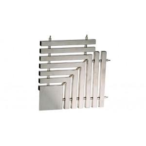 Угловая плитка 90гр. для переливной решетки 195*35мм нерж. сталь  AISI-304